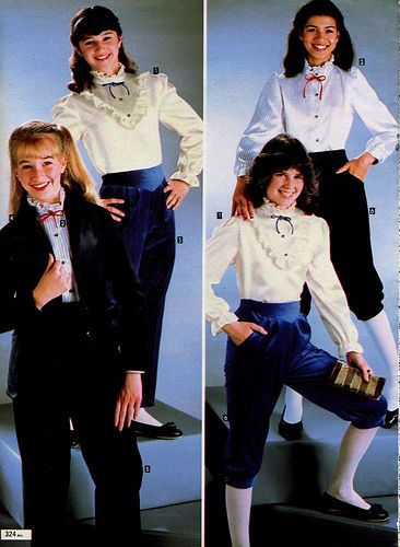 Knickers and a blouse! 1982 Wishbook....mine were brown corduroy.