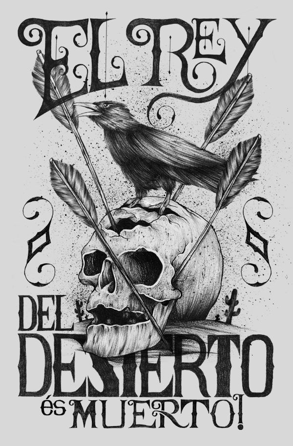 El rey del desierto, és muerto! by Alexandre Ruda #drawing #illustration #skull