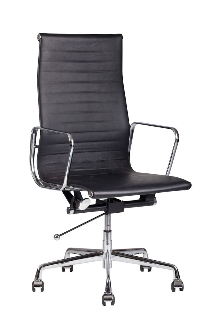Replica Charles Eames style Leather Office Chair  -- With clean lines and a modern design, our Replica Ray and Charles Eames style Aluminium Office Chair blends comfort and functionality for your work or home office.   The frame and base of this leather office chair are produced from cast aluminium and have been hand polished. The seat of the chair is covered in a premium top grain Italian leather. There is a tilt and rock action, as well as a one touch gas lift height adjustment bar. ...