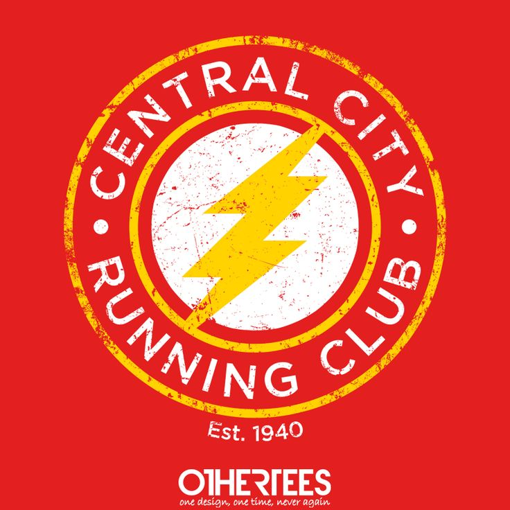 """""""Central City Running Club"""" by alecxps T-shirts, Tank Tops, Sweatshirts and Hoodies on sale until 25th September at www.OtherTees.com Pin it for a chance at a FREE TEE! #flash"""