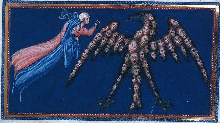 Divina Commedia - Paradiso - illuminated by Giovanni di Paolo c. 1450, http://www.bl.uk/