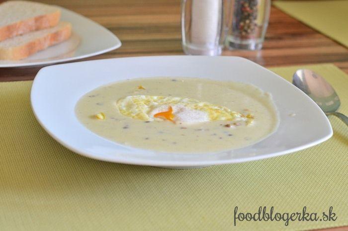 lentil potage with egg
