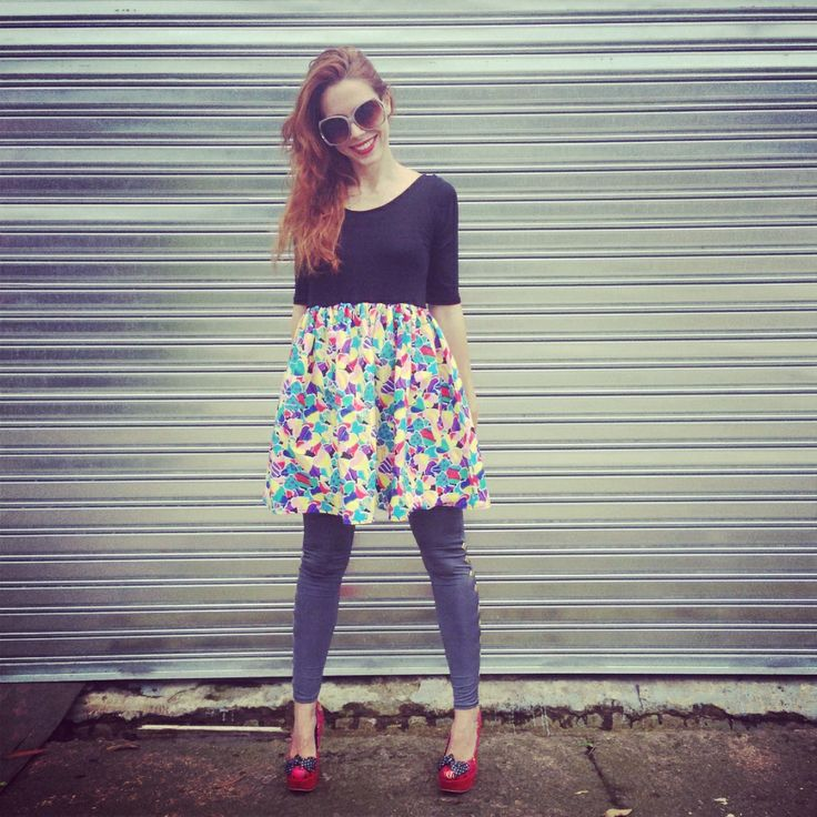 Candy heart printed Waewest skate dress, worn with Waewest leggings, Iron Fist shoes, JAM sunnies and shot by South African singer/Musician/DJ Shannon Hope