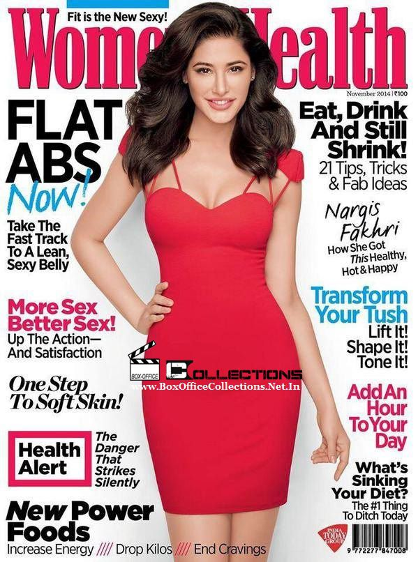 Nargis Fakhri flaunts her perfect body on the cover of Women's Health Magazine, November 2014