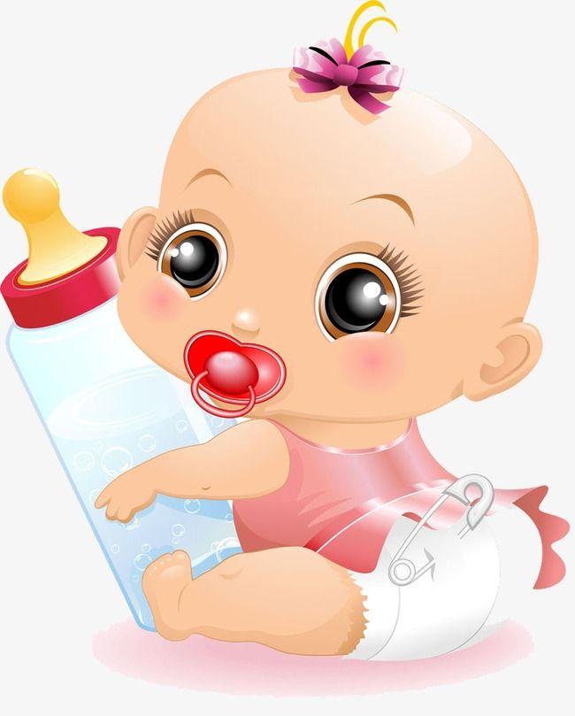 طفل طفل زجاجة الرضاعة طفل Png وملف Psd للتحميل مجانا Baby Clip Art Baby Cartoon Baby Art
