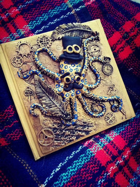 Otto the Octo  Steampunk Octopus Journal or Notebook with