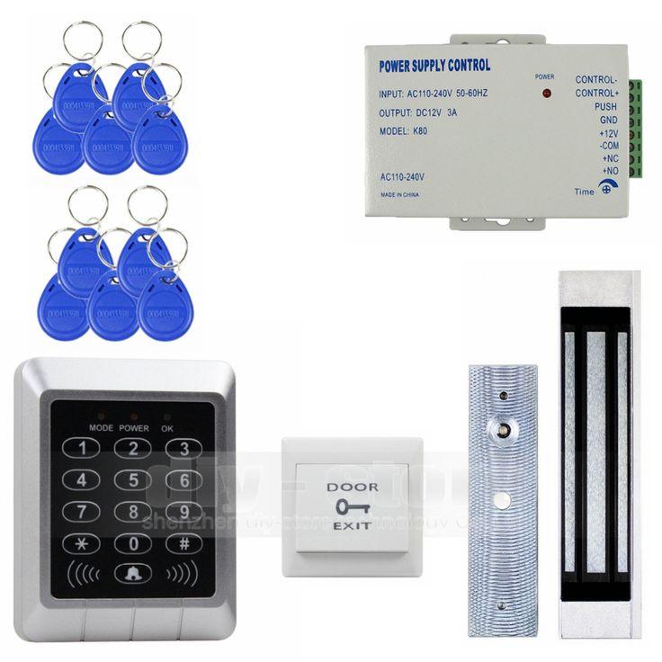 DIYSECUR Full Complete 125KHz Rfid Card Reader Door Access Control Security Kit + 180KG Magnetic  Lock For Home Improvement  #Affiliate