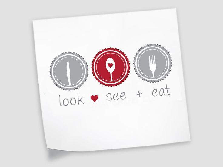 Look See Eat Logo Design - Catering Logo  #foodlover #cateringlogo #freshdesign #kissrule