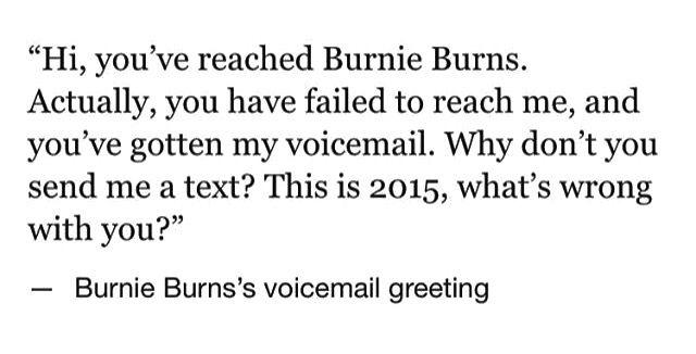 Burnie Burns' voicemail greeting
