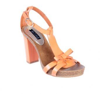 Sandalia lazo naranja - Sandalias de tacón - Zapatos - Tiendacuple.com