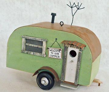 Item 312 senior vintage travel trailer birdhouse - Muebles restaurados vintage ...
