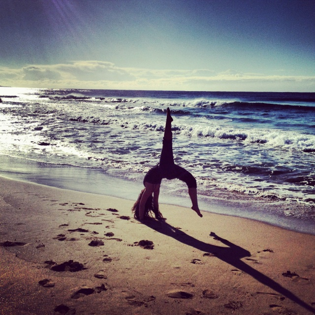 Fun times at the beach in Kiama, Australia