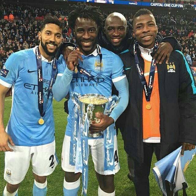 Image result for eliaquim mangala capital one cup trophy