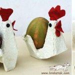 Galinha dos ovos... Tutorial em: http://krokotak.com/2010/03/ot-kartoneni-kori-za-yaytsa/