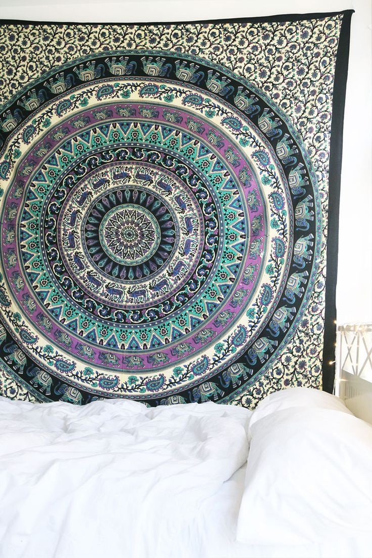 Plum and green bedding - Awwwe I Have This Ooh La Loft Royal Plum Mandala Tapestry Plum Bedding
