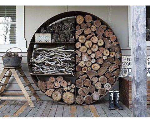 "57 Synes godt om, 2 kommentarer – House Ninety One (@houseninetyone) på Instagram: ""Since the cold is not leaving us this year, check out this giant round wood, charcoal, kinderling…"""