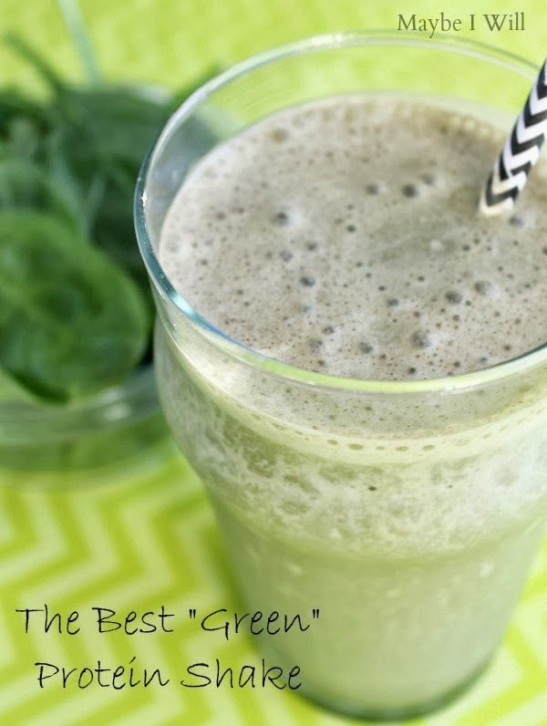 """The Best """"Green"""" Protein Shake --- This shake is AMAZING!! A great way to get more veggies into your life! #greenshake #proteinshakes {www.m..."""