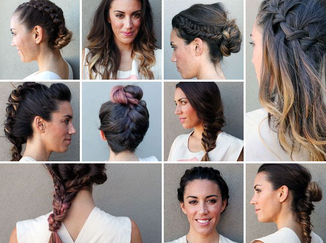 10 Unconventional Ways to Style a Braid via Brit + Co.