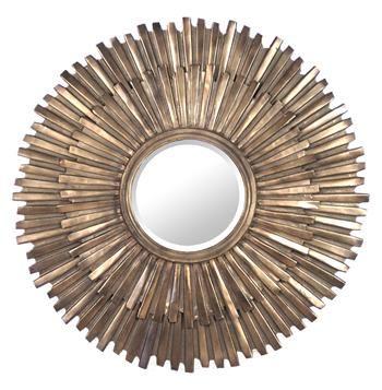 Margot Hollywood Regency Antique Bronze Sunburst Mirror #hollywoodregency #kathykuohome