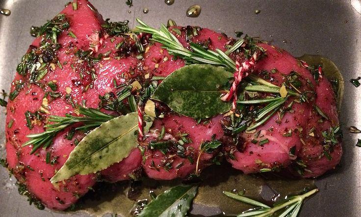 Rund uit de oven met rode wijnjus - Francesca Kookt
