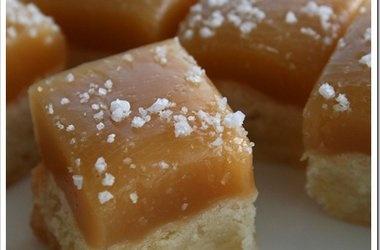 Caramel Topped Shortbread Bites — Punchfork. Great site for recipes ...
