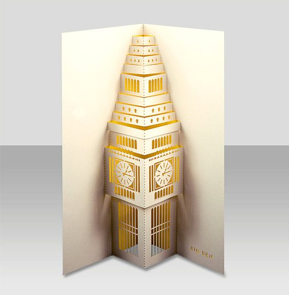 Etsy の Big Ben pop-up by PAPERTANGOLTD