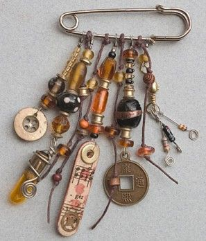 Time to start playing with your stash of found objects and those beads you've been collecting, Hope that Ro Bruhn's work will inspire you.