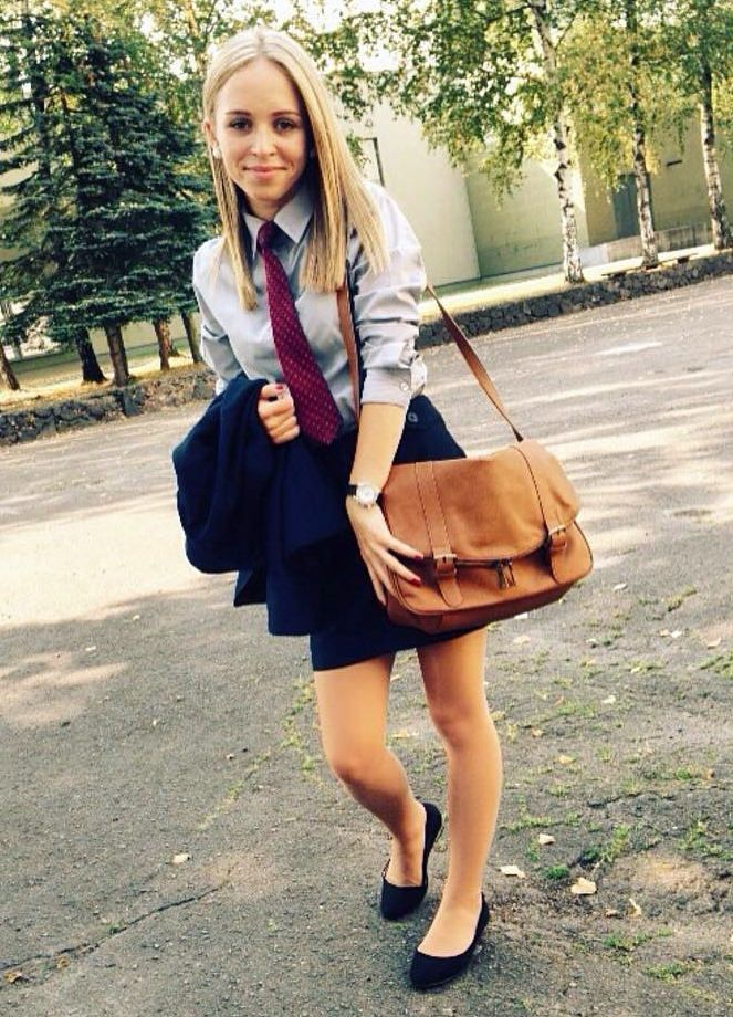 Dressed In Her School Uniform  By Carla Cro21  Skirt And -3526