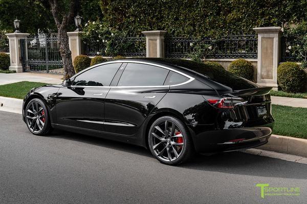 Tesla Model 3 Carbon Fiber Sport Trunk Wing Spoiler Tesla Model Tesla Tesla Model S Black