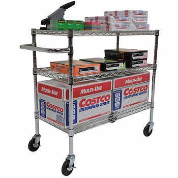 Trinity EcoStorage™ 3-Tier NSF Chrome Cart