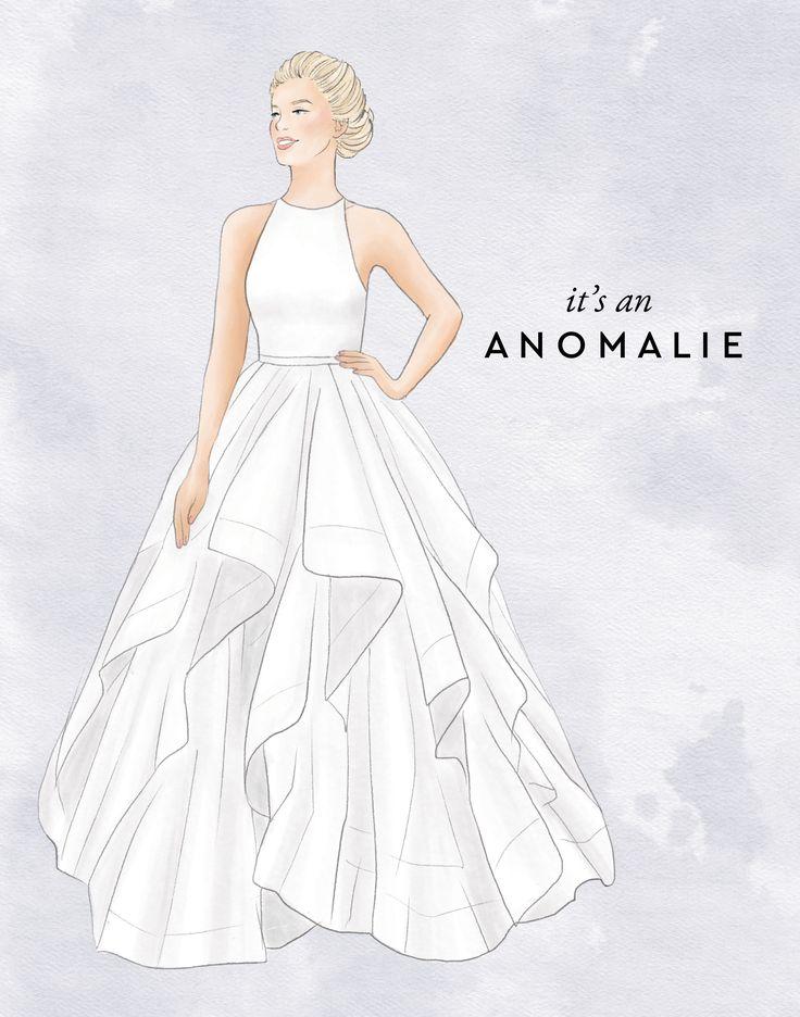 33 best anomalie sketches images on pinterest bridal for Anomalie wedding dress