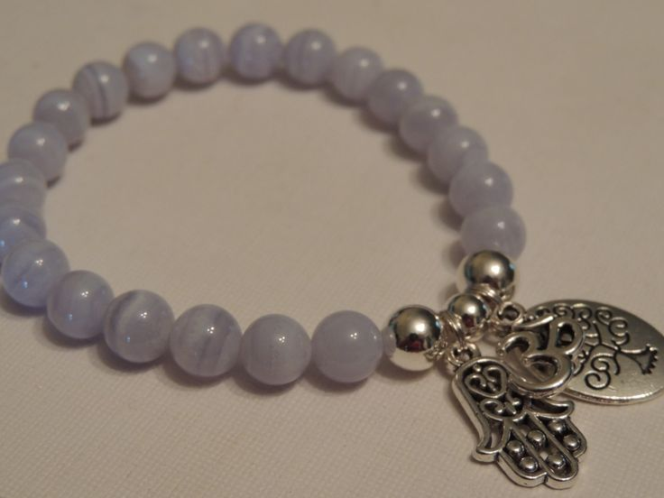 Blue Lace Agate Chalcedony - Calming gemstone -