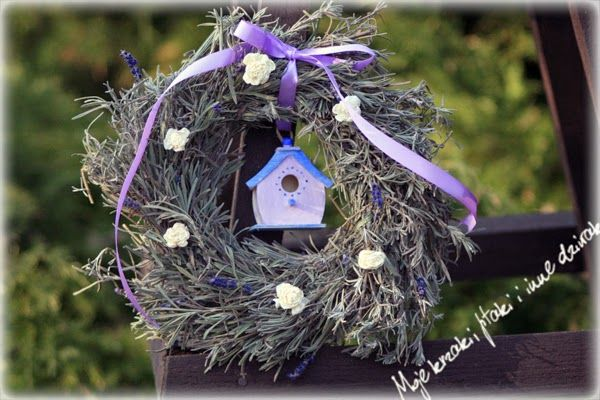 spring wreath, lavender wreath