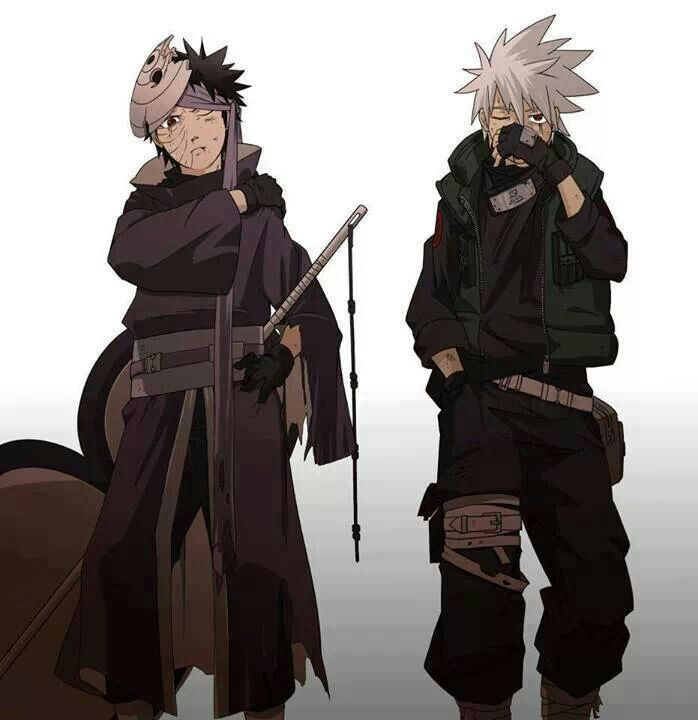 Obito and Kakashi Oh god, Kakakshi is soooo hot in this one!!
