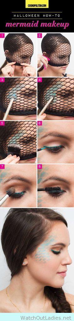 Amazing mermaid tutorial make up easy step by step
