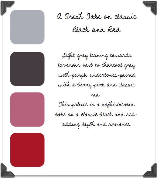 Grey, Charcoal, Berry & Red Color Palette