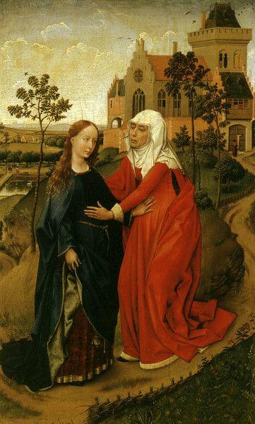 Рогир ван дер Вейден - Посещение Марии, ок. 1440 - 144