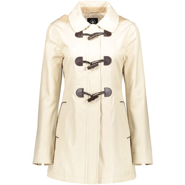 Halifax Traders Beige Zip-Up Toggle Jacket (€45) ❤ liked on Polyvore featuring outerwear, jackets, zip jacket, toggle jacket, zip up jackets, zipper jacket and beige jacket