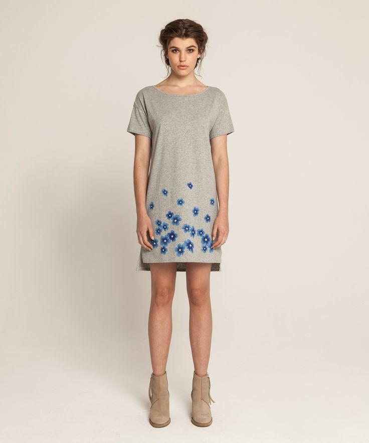 Jersey T Dress - Kopakopa - Grey Marle