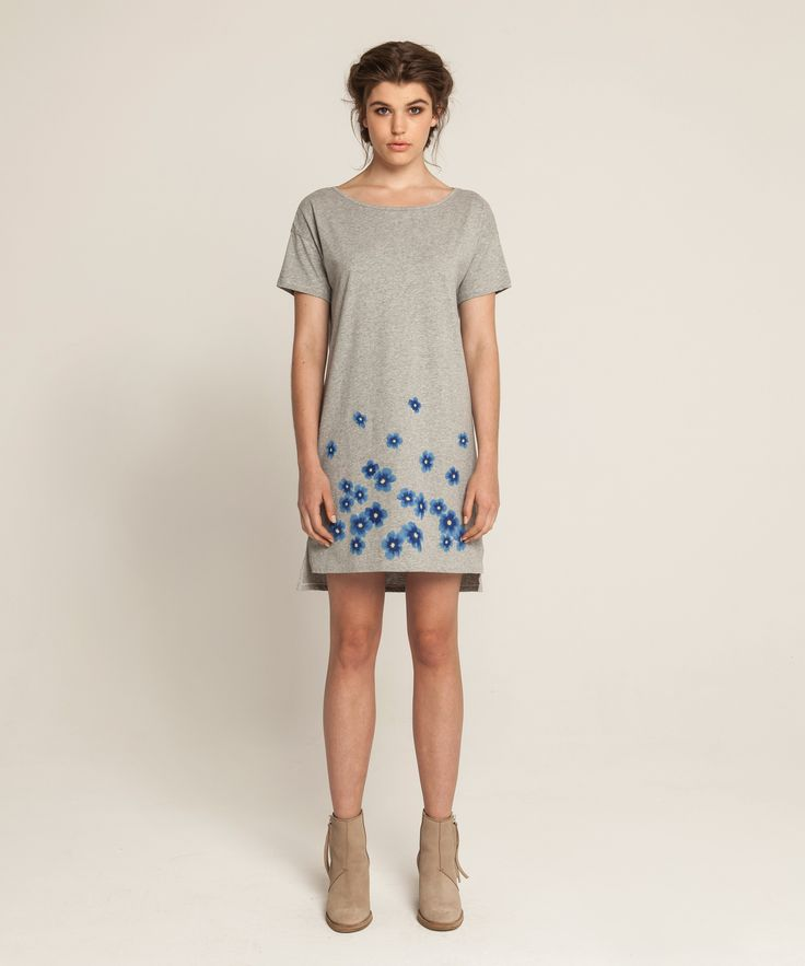 Jersey T Dress - Kopakopa - Grey Marle