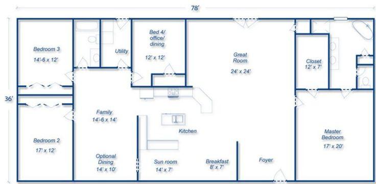 Mueller Metal Building House Plans, | Pallet project