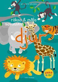 Lär ditt barn att räkna från ett till tio samtidigt som barnet får skapa sina egna unika djur med olika färger. Hur många elefanter ser du? Hur många giraffer tittar fram? Hur många tigrar busar? Med lekfulla illustrationer av Tinna Ahlander öppnas barnets sinne för färg, ord och siffror. Måla, peka och lär!