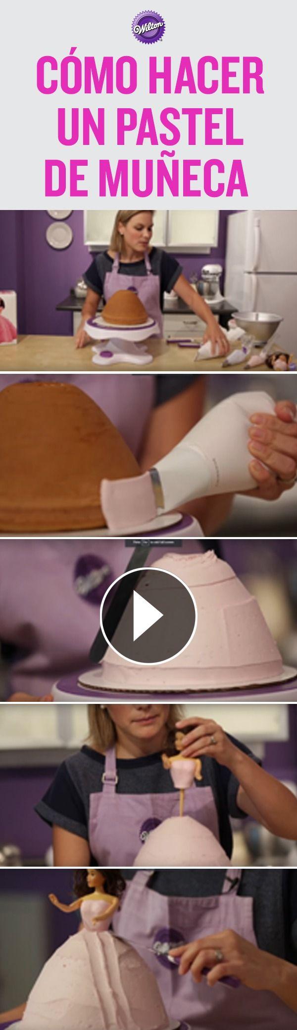 ¡Los pasteles en forma de muñeca son clásicos! Usa glaseado de mantequilla para convertir un pastel de muñeca en una hermosa princesa. Te vamos a enseñar paso a paso como glasear y decorar su vestido con glaseado de mantequilla, usando técnicas muy fáciles.