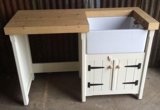 Pine Freestanding Kitchen Belfast Butler Sink Unit Appliance Gap Cover Housing