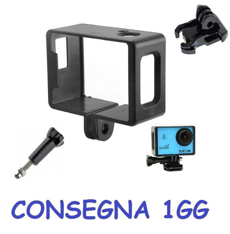 Supporto Custodia Frame Cornice per Sjcam sj4000 sj6000 sj7000 + Accessori