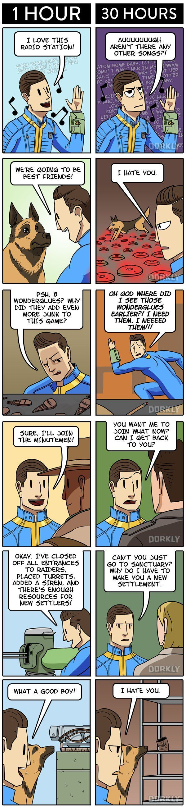 Fallout 4: 1 Hour In VS 30 Hours in