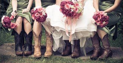 And yes...I am wearing cowboy boots with my dress! So are the bridesmaids! :)