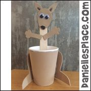 Paper Cup Kangaroo Craft for Australia Day