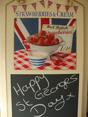 St. Georges Day Strawberries and Cream. A Classic English combination