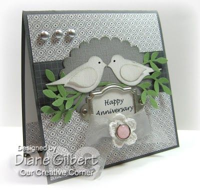 Anniversary card design with Stampin Up products